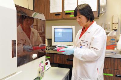 Scientist in WADDL lab