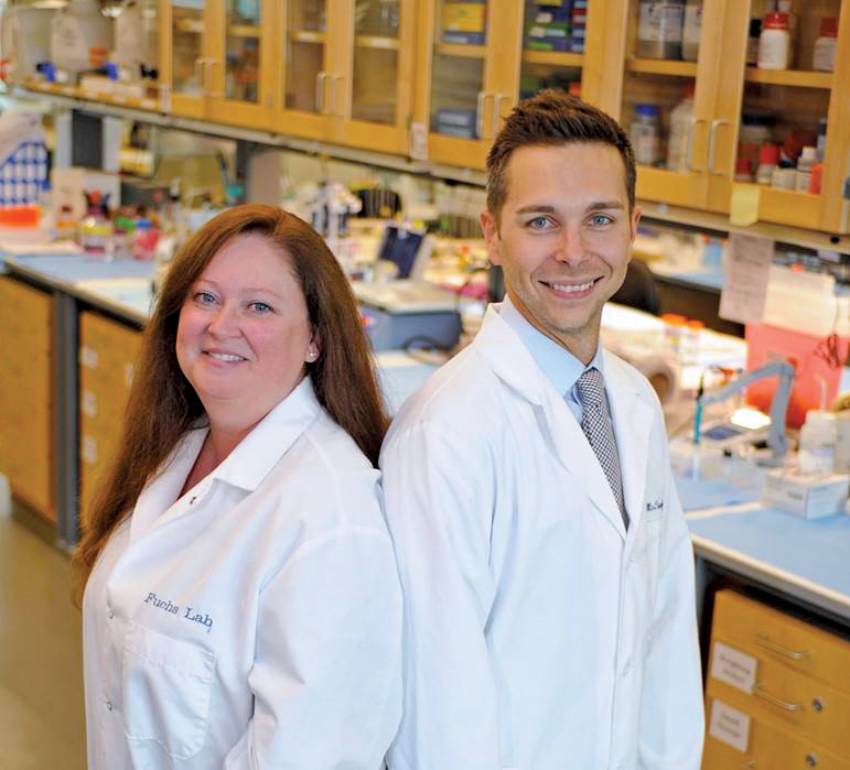 WSU neuroscientists - Dr. Rita Fuchs and Dr. Ryan McLaughlin