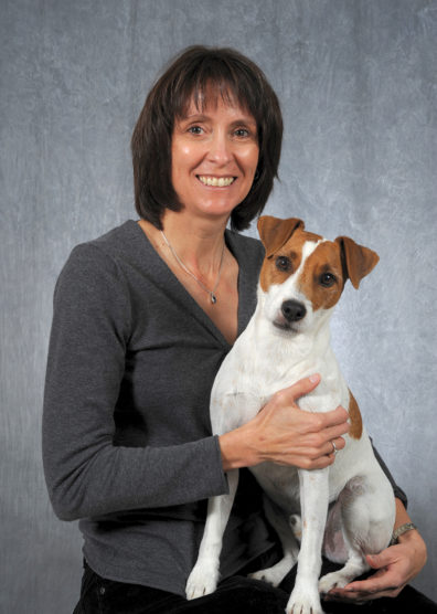 Katrina Mealey with her dog