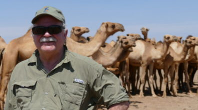 Bryan Slinker in Marsabit Kenya with camels