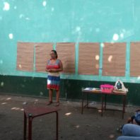 Maria Ortiz giving a presentation