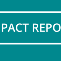 Teal banner that reads Impact Report