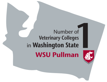State graphic. 1: Number of Veterinary colleges in Washington State WSU Pullman