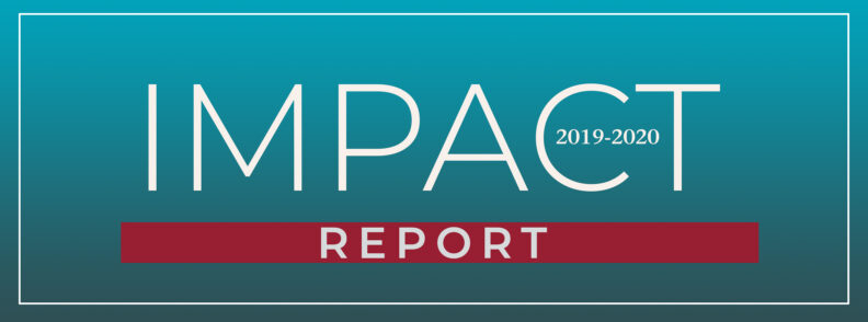Banner that reads Impact Report 2019-2020