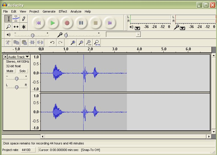 Audacity user interface