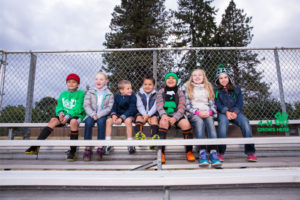 4-H Program children sitting in school bleachers