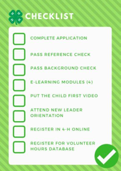 Volunteer Application Checklist