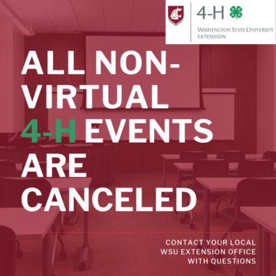All non-virtual 4-H events are canceled