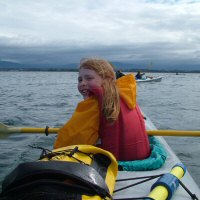 Image of girl kayaking