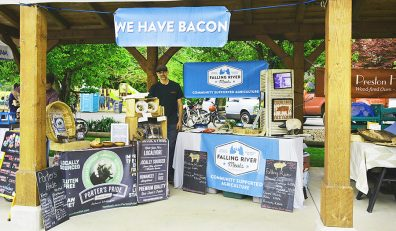 Falling River Meats market stand