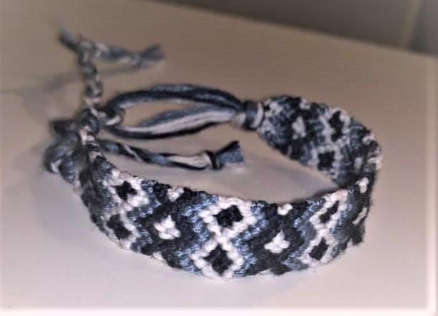 Emma's fancy knotted bracelet