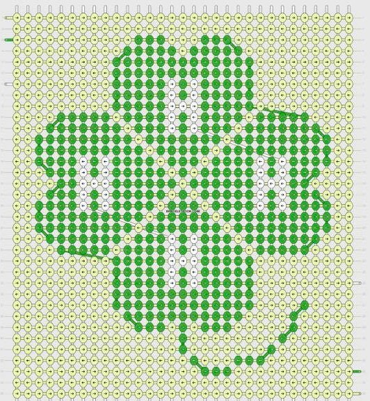 Clover pattern for stitching