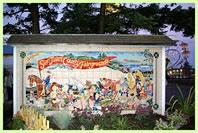 Gate mural