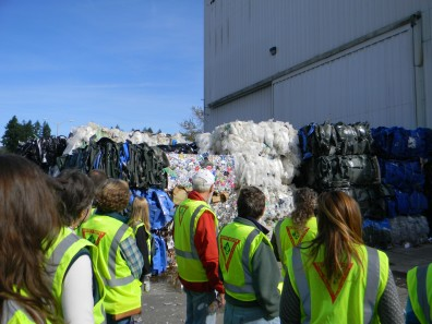 Touring the LeMay recycling plant in Lacey.