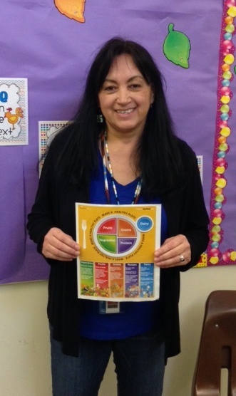 Springbrook Elementary School 5th Grade Teacher Laurie Sison in her classroom.
