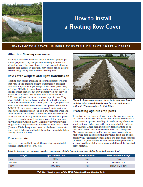 How to Install A Floating Row Cover, FS089E