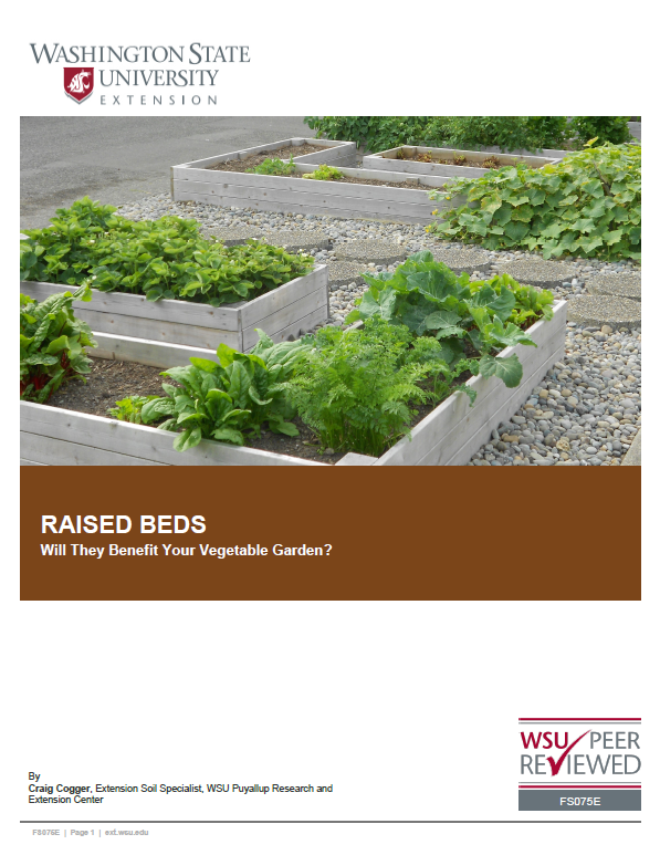 Raised Beds, Deciding If They Benefit Your Vegetable Garden, FS075E