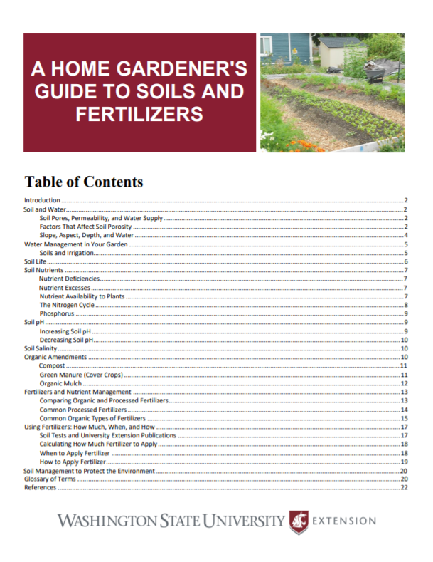 A-Home-Gardeners-Guide-to-Soils-and-Fertilizers-Home-Garden-Series-EM063E brochure cover