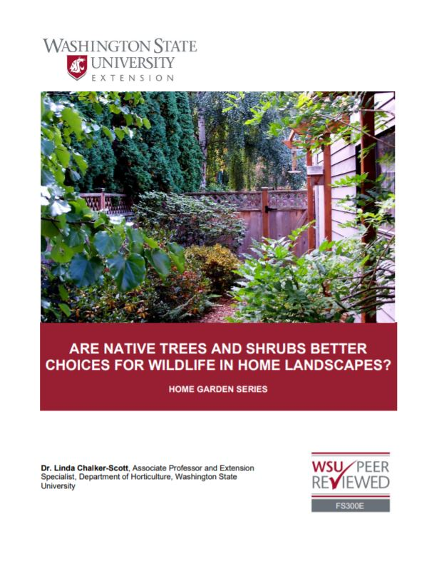 Are Native Trees and Shrubs Better Choices for Wildlife in Home Landscapes, FS300E brochure cover