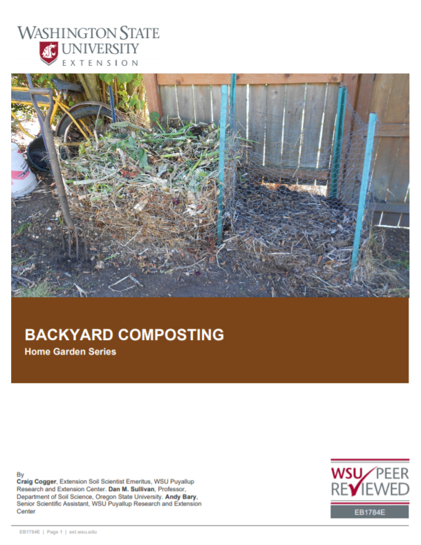 Backyard Composting (Home Garden Series), EB1784E brochure cover
