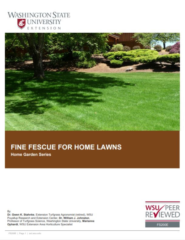Fine-Fescues-for-Home-Lawns-in-Washington-Home-Garden-Series-FS200E brochure cover