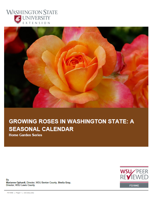Growing Roses in Washington - Rose Care Calendar (Home Garden Series), FS164E brochure cover