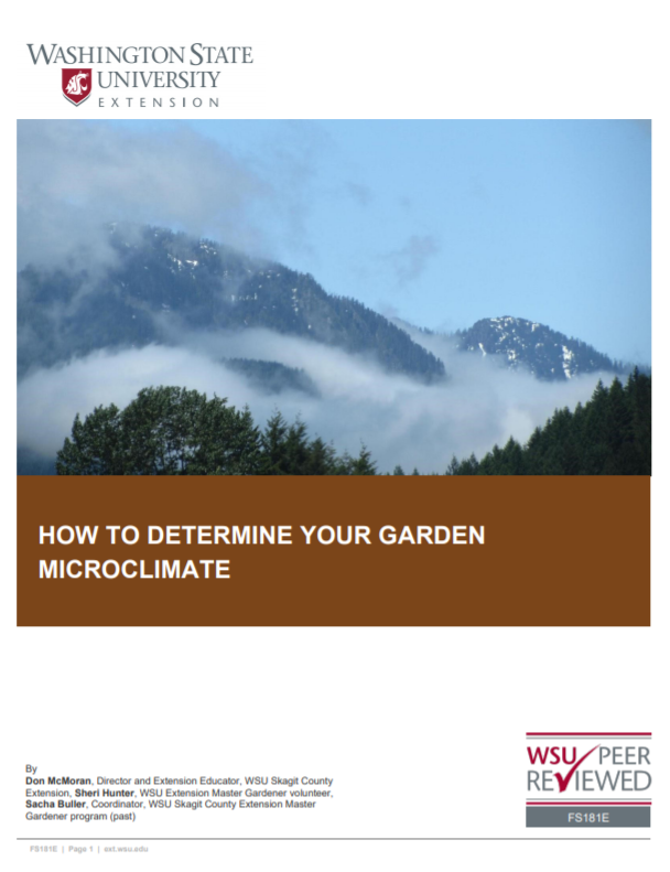 How to Determine your Garden Microclimate, FS181E_cover snip