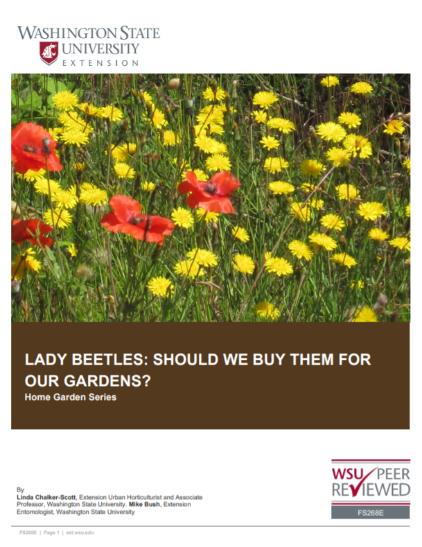 Lady Beetles-Should We Buy Them For Our Gardens (Home Garden Series), FS268E brochure cover