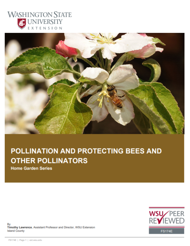 Pollination and Pollinator Protection (Home GardPollination and Pollinator Protection (Home Garden Series), FS174E brochure coveren Series), FS174E brochure cover