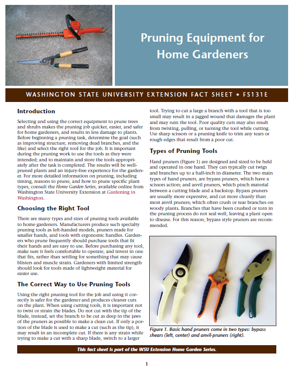 Pruning-Equipment-for-Home-Gardeners-Home-Garden-Series-FS131E brochure cover