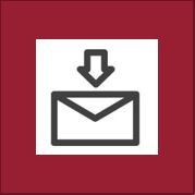 Icon with arrow pointing at envelope