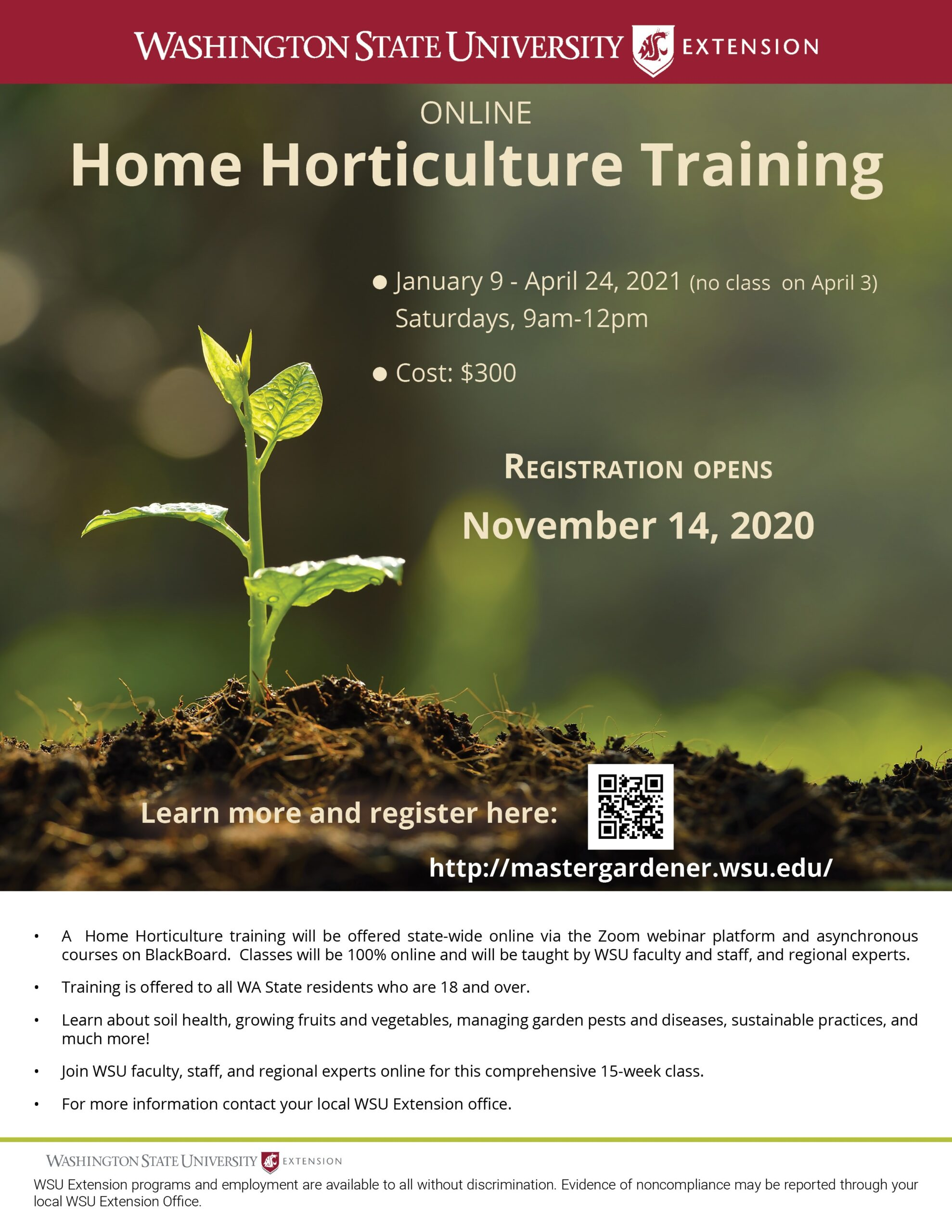 Home Horticulture Course flyer