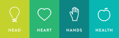 4-H head, hands, heart, health logo