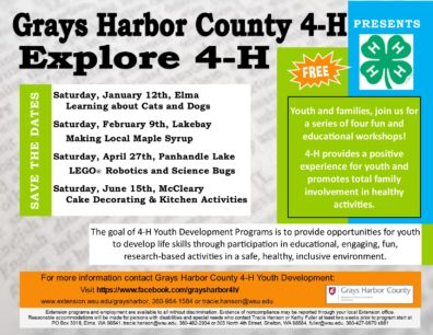 Explore 4-H Dates, Locations & Topics