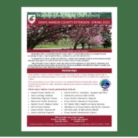 front page of the spring 2020 WSU Grays Harbor County Extension quarterly report