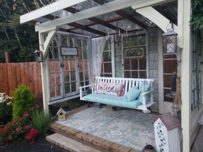 Outdoor room with porch swing
