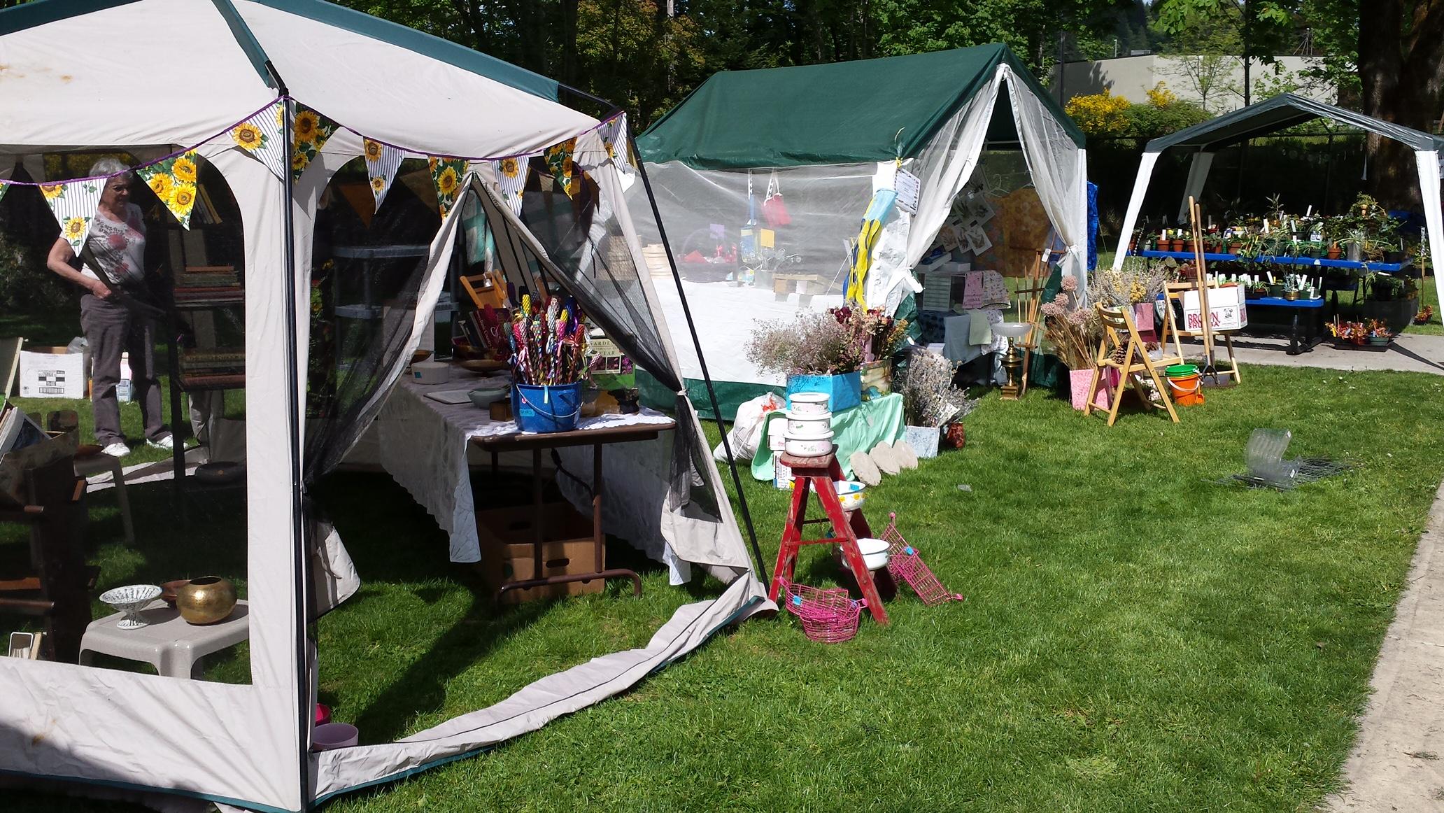 Vendors in Kneeland Park for 2015 Plant Sale