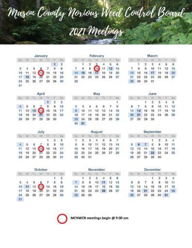 2021 MCNWCB Calendar