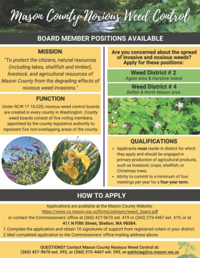 McNWCB Board Member Positions Available