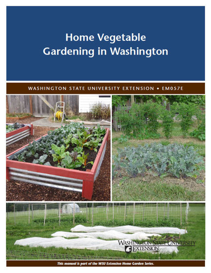 Cover of Home Vegetable Gardening in Washington publication