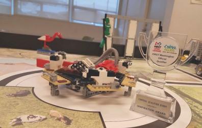 A small lego robot.
