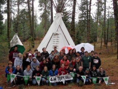 Members at Teen Camp