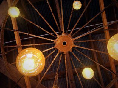 Wagon Wheel and Lights