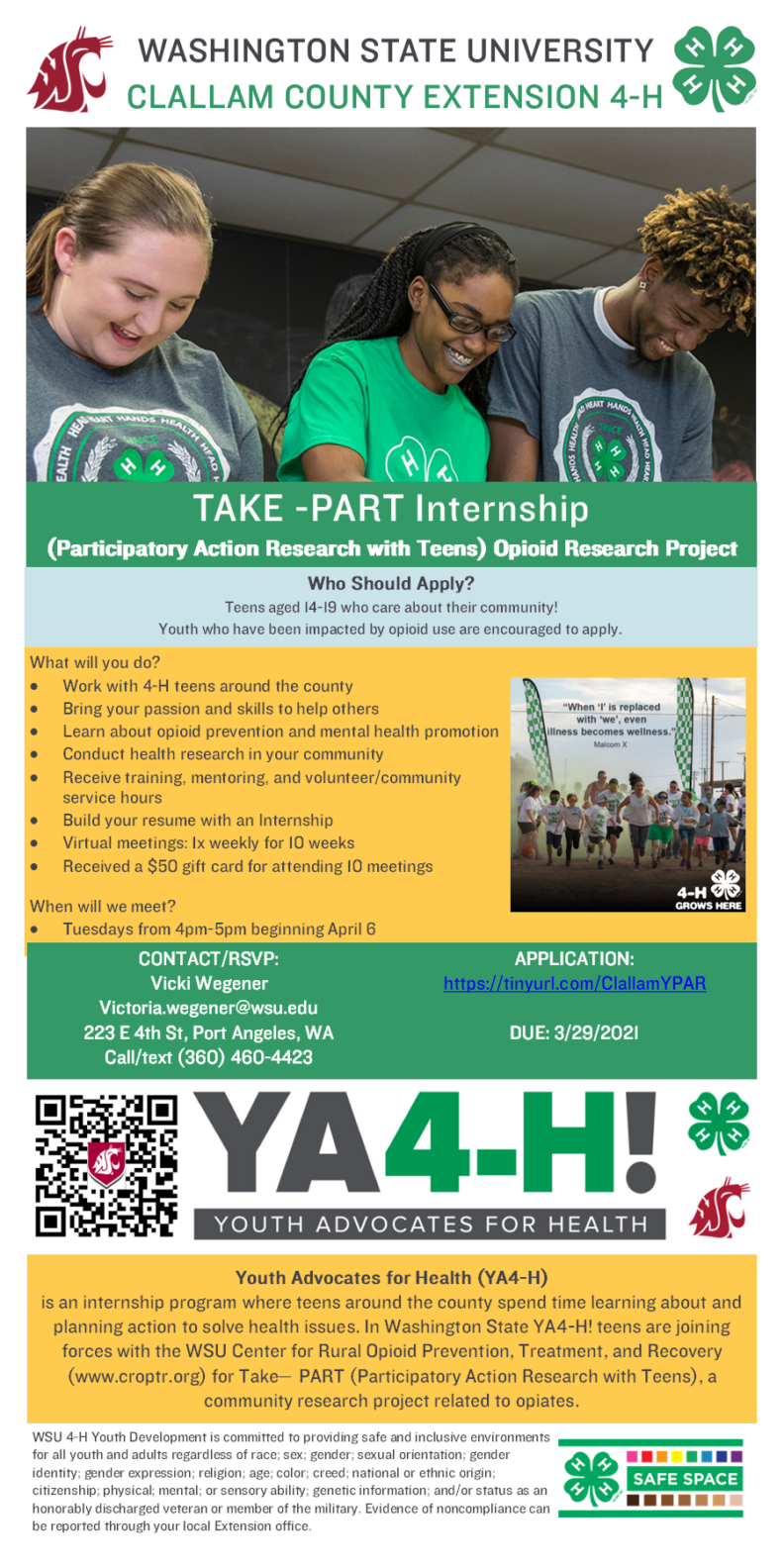 flyer describing YPAR program