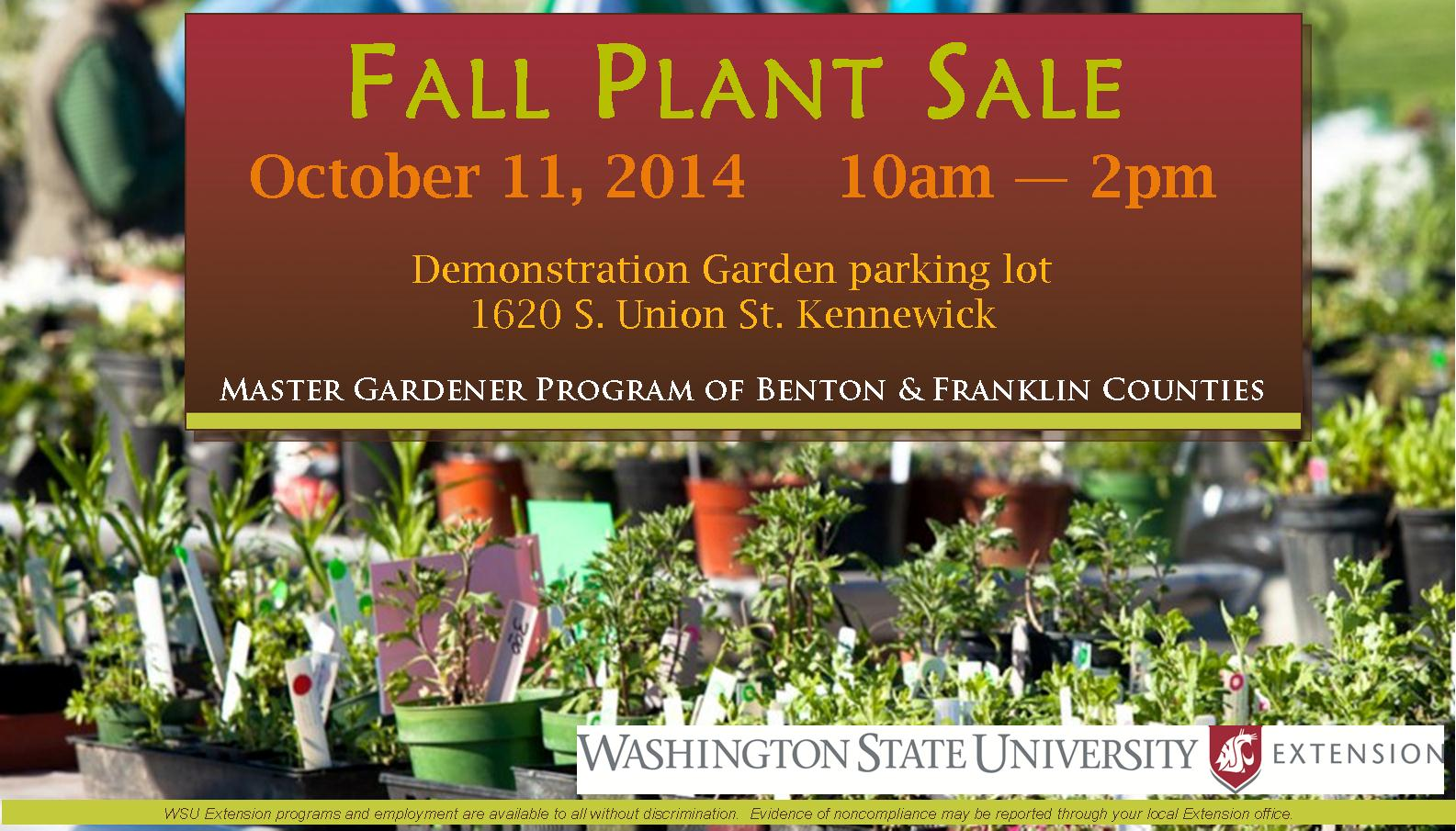 Fall Plant Sale 1 Graphic | Benton & Franklin Counties | Washington ...