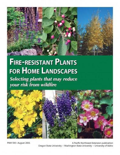 pnw590 Cover Fire Resistant Plants for Home Landscapes