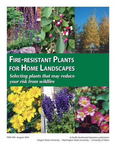 pnw590 Cover Fire Resistant Plants for Home Landscapes