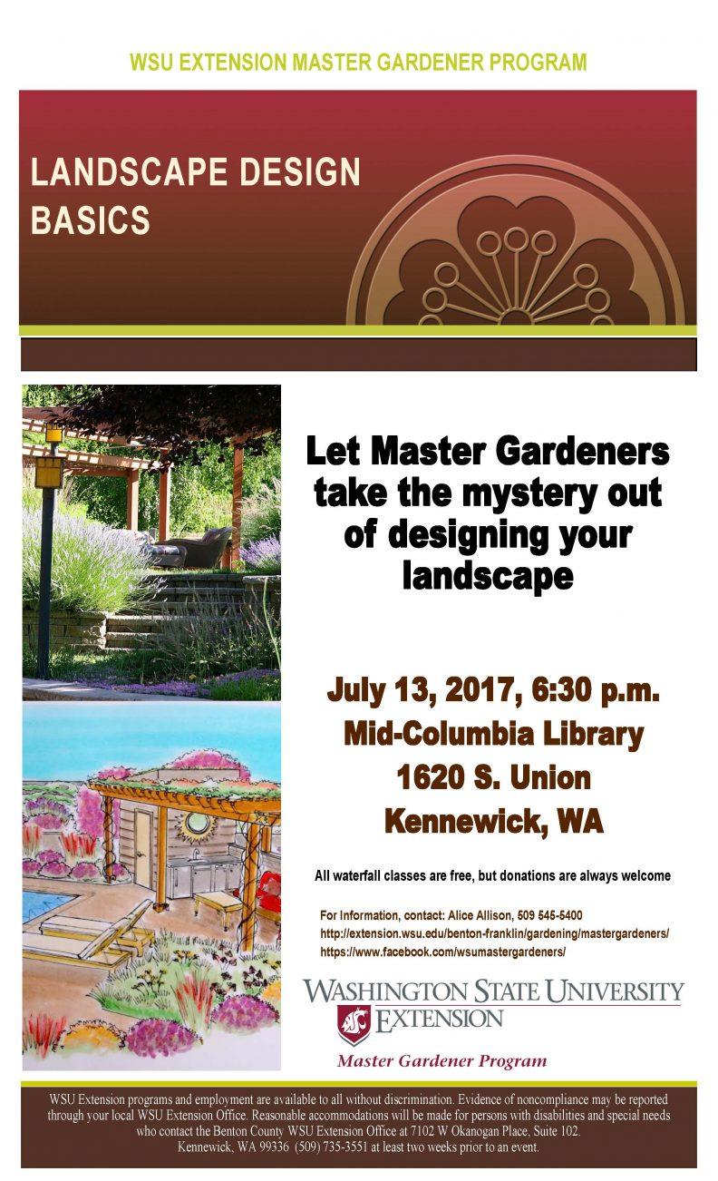 landscape design class garden education series benton franklin