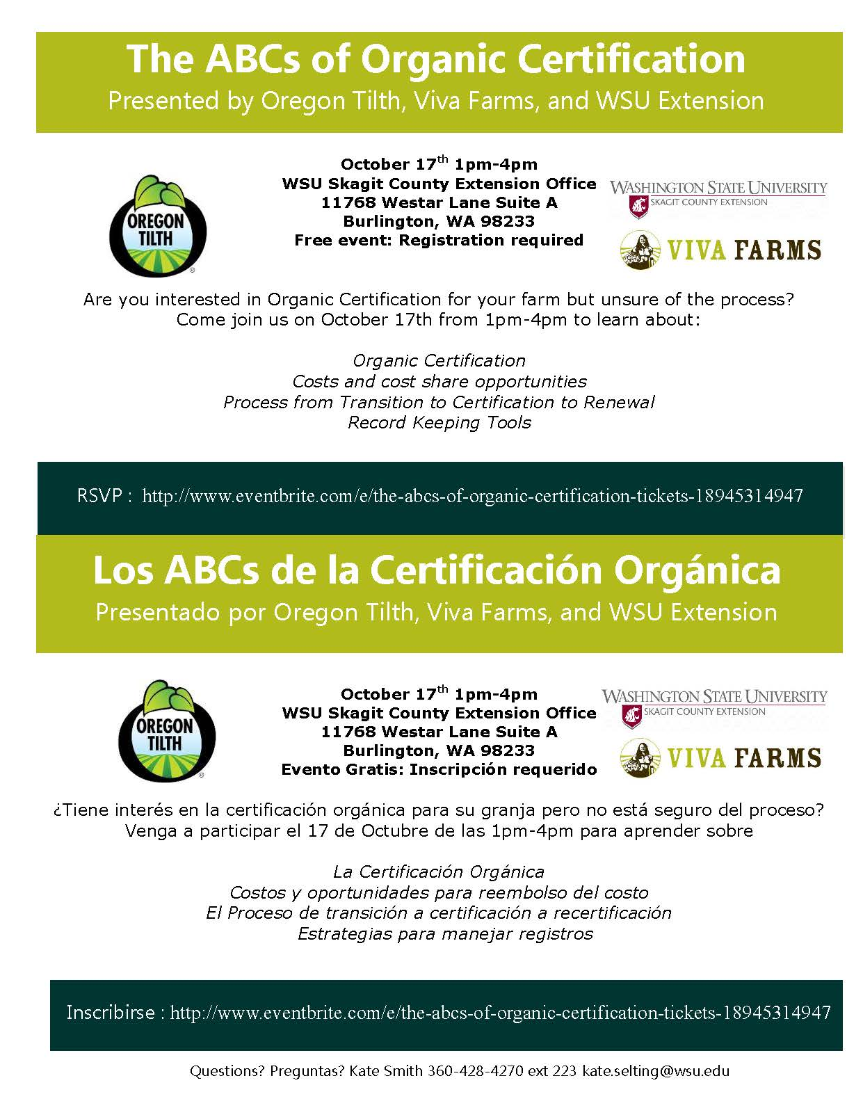 The Abcs Of Organic Certification Skagit County Washington State