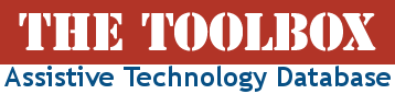 Link to Assistive Technology Database called the toolbox
